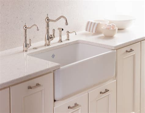 kitchen faucets for farmhouse sinks rohl shaws classic modern apron front single bowl fireclay