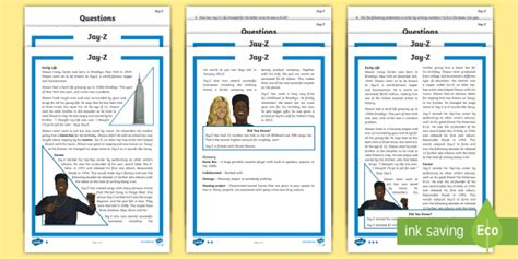 biography comprehension activity ks2 ks2 jay z differentiated reading comprehension activity