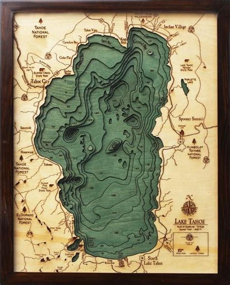 lake tahoe tattoo lakes charts and paper on