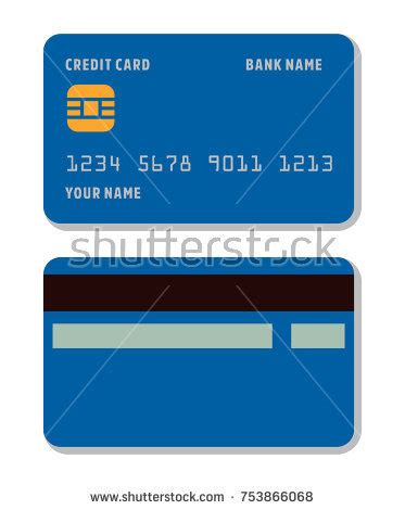 doge credit card template blank credit card template flat style stock vector