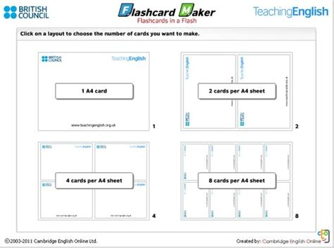 flash card maker bbc 44 best generate own resources for english classroom