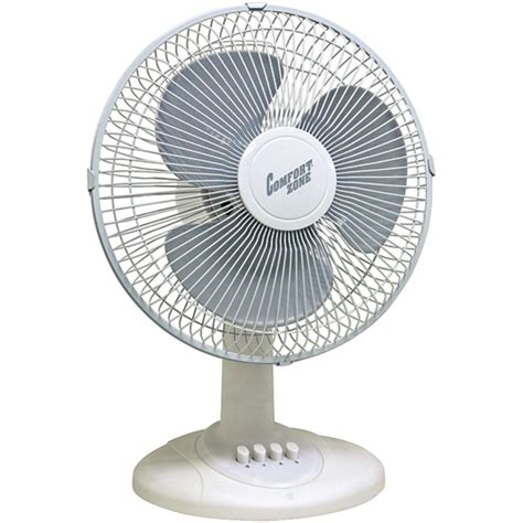 table fans at home depot retro 12 in 3 speed oscillating personal table fan