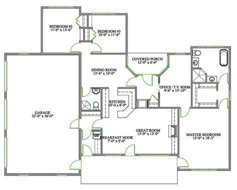 concept kitchen living room floor