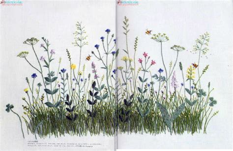 embroidered garden flowers botanical motifs for needle and thread make crafts books japanese embroidery kazuko aoki cross stitch by fatelessebooks
