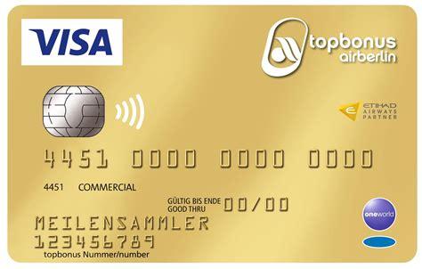 goldene kreditkarte ab wann neuauflage der airberlin visa card verschlechterung der