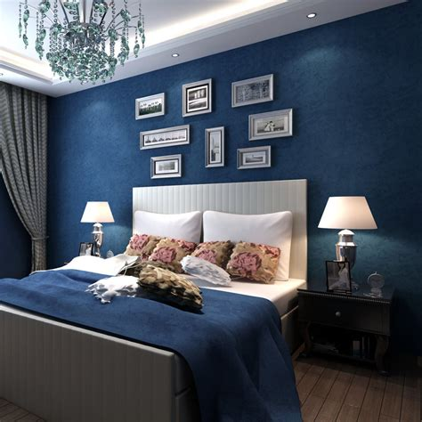 blue wallpaper living room 0 53x10m blue flower wallpaper retro style wallpaper living room sofa tv background wall