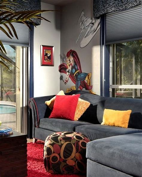 check out this radical avengers themed house geektyrant 74 best wall art paint ideas images on pinterest color