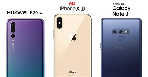 เปร ยบเท ยบกล อง iphone xs และ samsung galaxy note 9 และ huawei p20 pro
