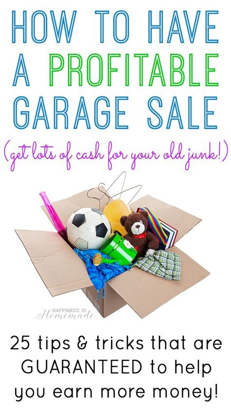 Garage Sale Tips And Tricks by How To Stuff And Garage On