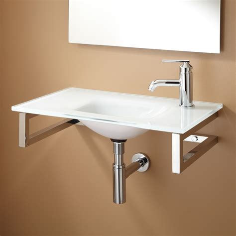 wall hung bathroom sink yesler wall mount glass sink bathroom sinks bathroom