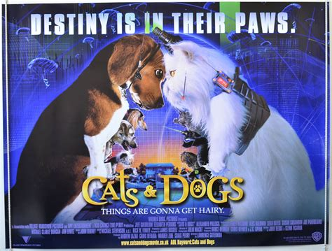 cats dogs cast cats and dogs 2001 original poster jeff goldblum tobey maguire ebay