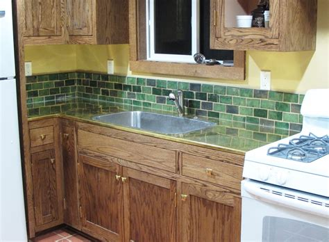 handmade arts and crafts tile backsplash by cottage craft