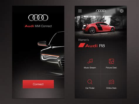Audi Mmi Connect App by Audi Mmi Connect App Ui By Warren Lebovics Dribbble