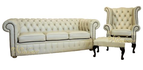 leather sofa suite deals chesterfield cream leather sofa offer 3 1 footstool