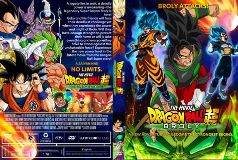 dragon ball super broly dvd cover cover addict