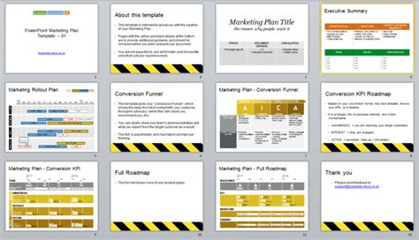 powerpoint marketing plan template conversion funnel