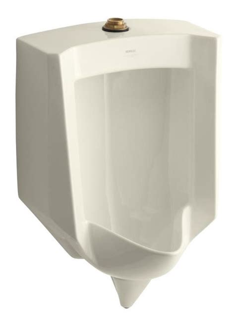 Sloan Auto Faucet Kohler K 4972 Et 47 Almond Lite Urinal With Top Spud