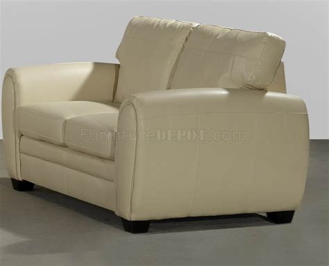 cream leather loveseat cream bonded leather modern loveseat sofa set w options