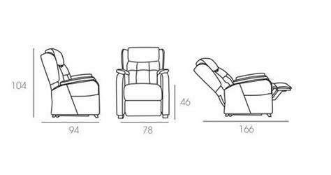 medidas de sillones sillones relax baratos valencia