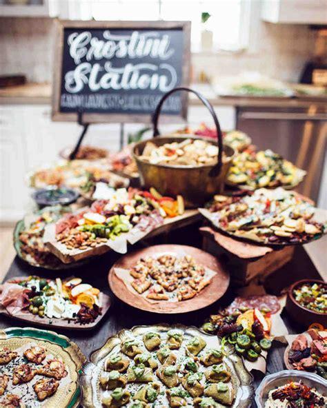 diy wedding reception food ideas uk 23 delicious food bars for your wedding martha stewart weddings