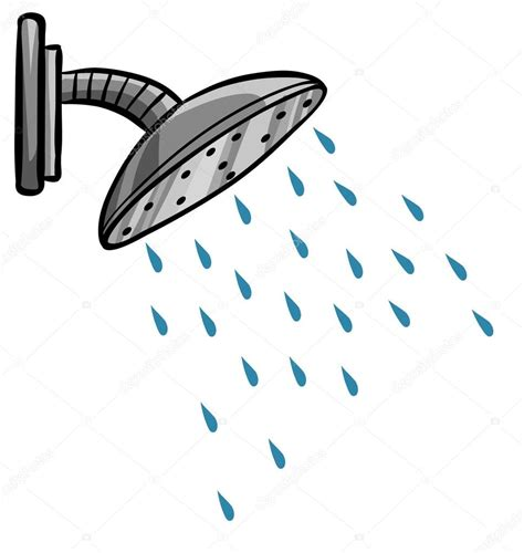 Why Is Water Not Coming Out Of Shower by Shower With Water Coming Out Stock Vector