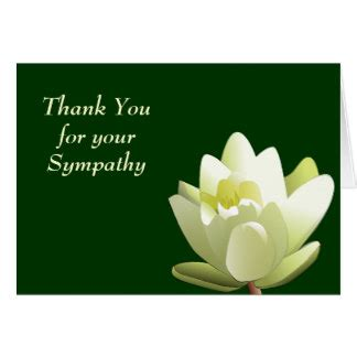 Thank You Card Wording For Sympathy Gift - sympathy thank you wording gifts on zazzle