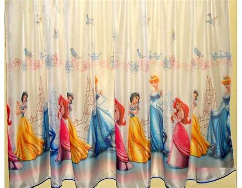 curtains 160cm drop disney voile net curtain panel princesses width 150cm 59