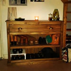 console meuble d entr 233 e et 224 chaussures en bois