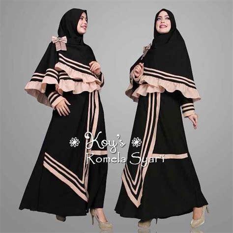 Model Baju Muslim Gamis Terbaru Dan Modern Fc Aretta Syari Whit model baju gamis modern terbaru romela koys