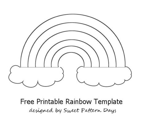 Rainbow Template Printable Activity Printables Pinterest Sprays For Kids And Paint Stencils Free Phlet Templates Microsoft Word