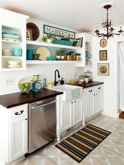 Open Kitchen Cabinets Ideas Small Kitchen Decorating Ideas Open Shelving Small Kitchens And Cabinets