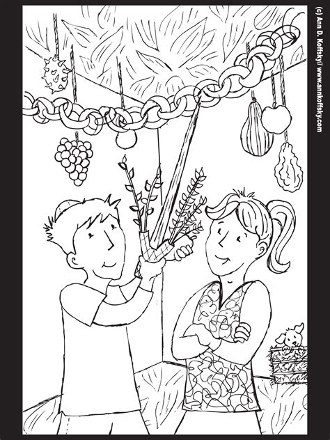 sukkot coloring pages sukkot coloring page celebrating the feasts