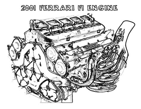 Car Engine With Labels Coloring Sheets Coloring Pages Engine Colouring Pages