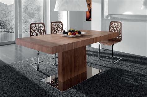 Cool Modern Dining Room Furnishings Design With Brown Modern Dining Room Tables