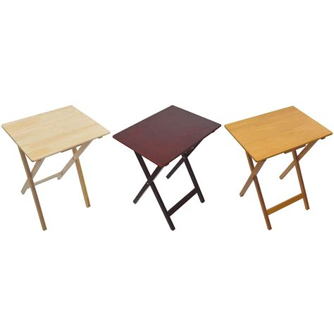 folding tv snack tables folding snack table pine wood mdf tv side laptop coffee