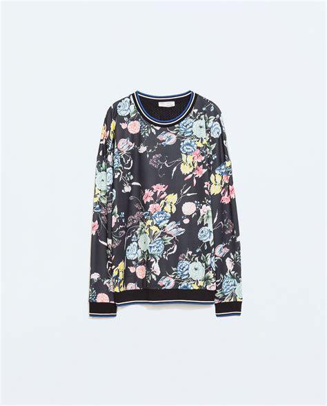 Zara Shirt Flower zara flowers tshirt in floral print 1 lyst