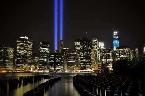 9 11 memorial lights from the piers flickr photo