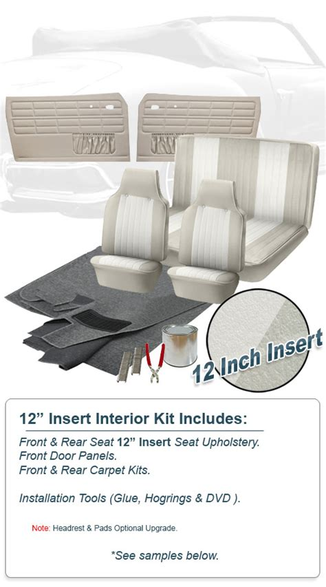 Karmann Ghia Interior Kit by Deluxe 12 Inch Insert Vw Interior Kit Karmann Ghia