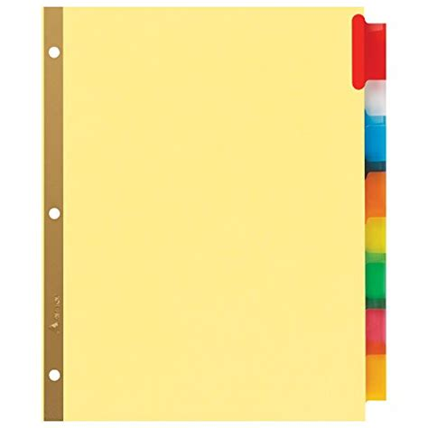avery big tab inserts for dividers 8 tab template avery big tab insertable dividers buff paper 8