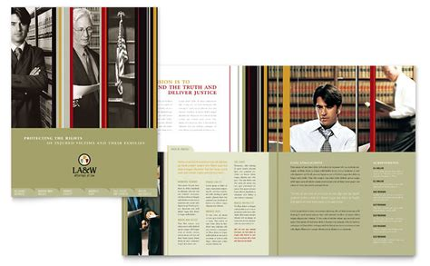 lawyer law firm brochure template word publisher