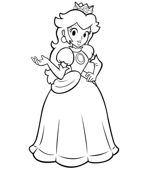Free Princess Peach Coloring Pages For Kids Princess Colouring Pages For