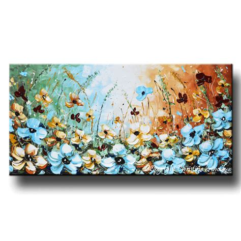 canvas prints home decor wall art painting blue sea boat giclee print art abstract painting blue flowers poppies