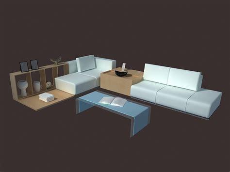 free 3d living room sets modern living room set furniture d model dsmax files free