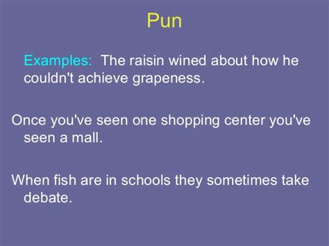exle of a pun drama vocabulary