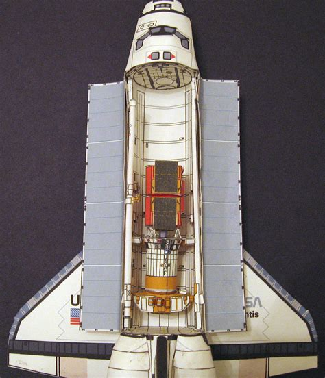 Papercraft Sts - space shuttle paper crafts