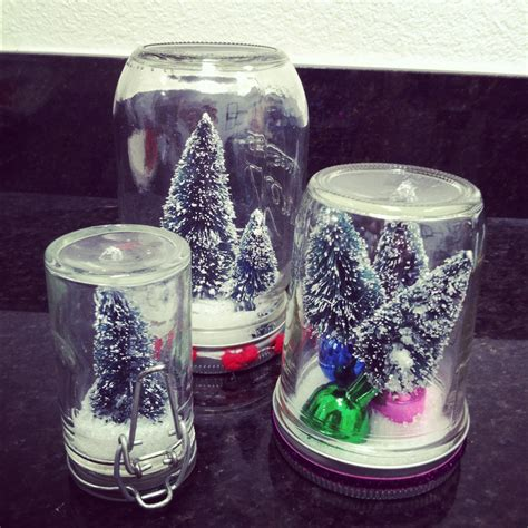 christmas glass jar snow globe craft preschool crafts