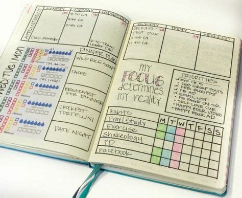 Best Layout For Journal   116 best bullet journal weekly layouts images on
