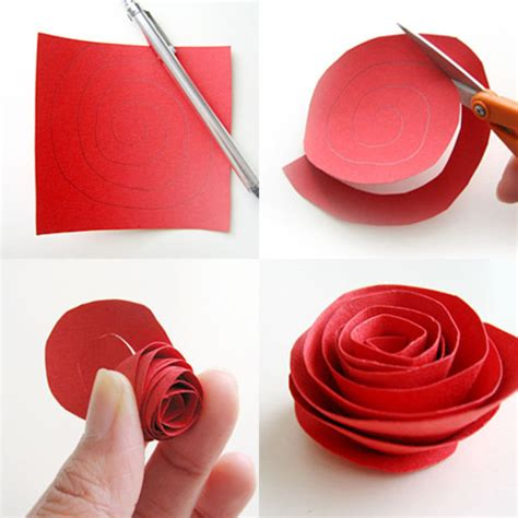Roses With Paper - easy paper flower tutorial square pennies