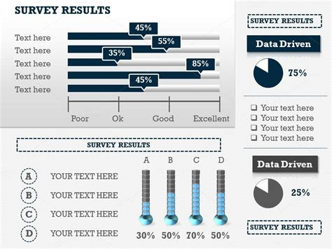 Survey Results Infographic Slides P1 Presentation Templates On Creative Market Survey Infographic Template
