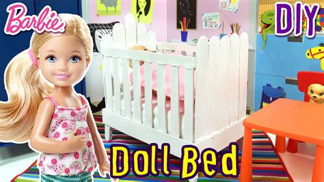 how to make a barbie bed how to make doll bed for barbie chelsea diy doll